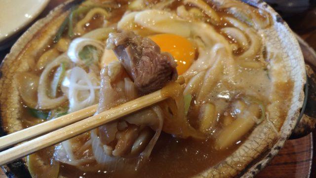 山本屋本店の味噌煮込みうどんの名古屋コーチン