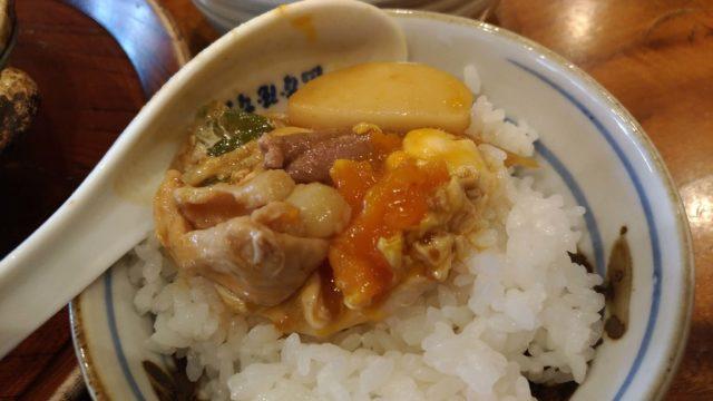 山本屋本店の味噌煮込みうどんの食べ方ご飯