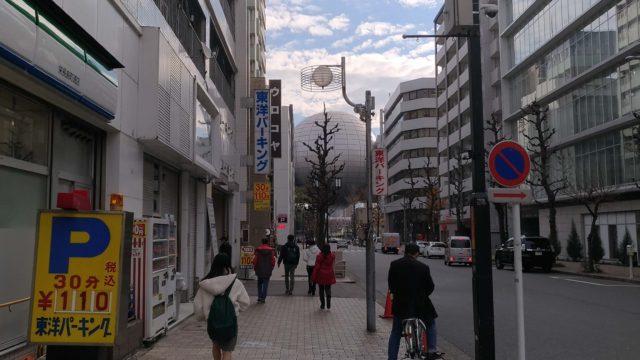 山本屋本店の駐車場